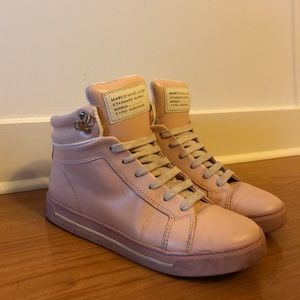Marc by Marc Jacobs Leather High Top Sneakers